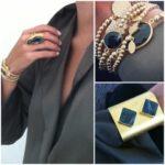 Smycken i svart och guld