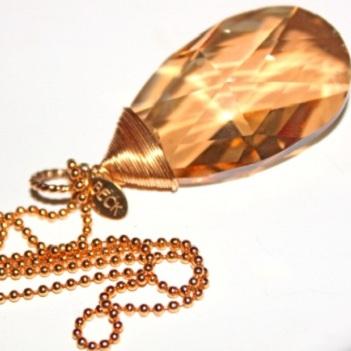 Swarovski halsband - BECK XL Gold Swarovski Chain